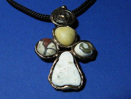 Dagger, Jewel Neck, Fluvial, Stone, Cord, Bronze, Own
