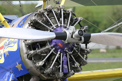 Flight, Aeroplane, Aircraft, Radial Engine, Propellor