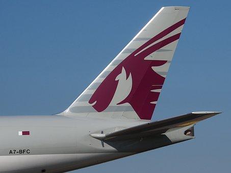 Qatar Airways, Cargo, Boeing 777, Airport, Plane