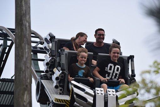 Legoland, Roller Coaster, Fun, Denmark, Billund, Speed