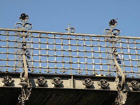 Antwerp, Spoorberm, Railway, Viaduct, Bridge, Bannister