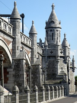 Antwerp, Spoorberm, Railway, Viaduct, Bridge, Pillar