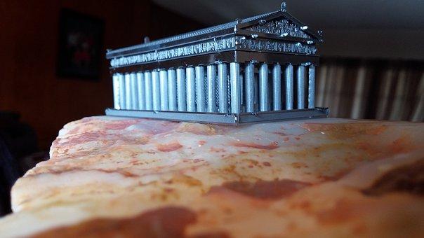 Parthenon, Acropolis, Model, Greece, Athens, Temple