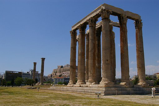 Temple Of Zeus, Greece, Greek, Athens, Olympian