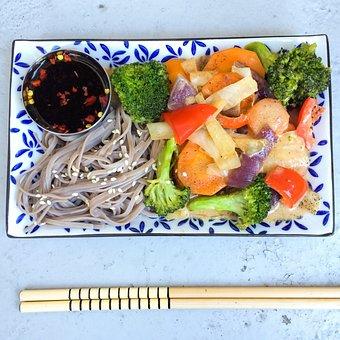 Organic, Noodles, Asian Food, Sticks, Barrel, Mat, Wook