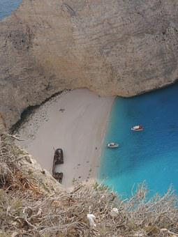 Zante, Shipwreck Beach, August