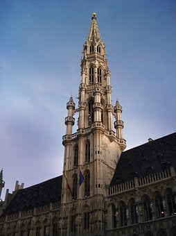 Tower, Brussels, Belgium, Grand Place, Architecture