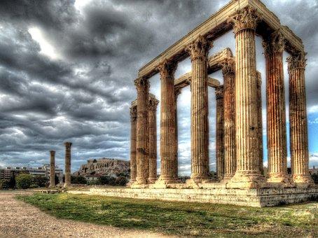 Temple, Zeus, Athens, Acropolis