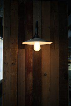 Lamp, Yellow, Plank, Secondhand Goods, Be Quiet