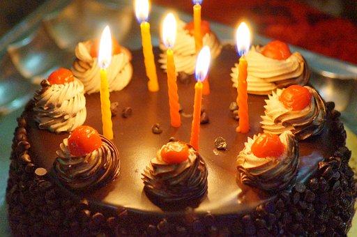 Birthday, Cake, Candles, Celebration, Celebrate