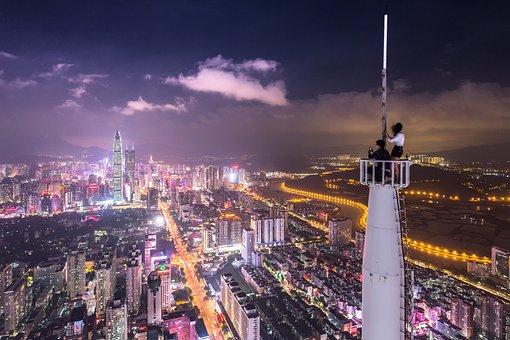 Architecture, Buildings, City, Cityscape, Clouds