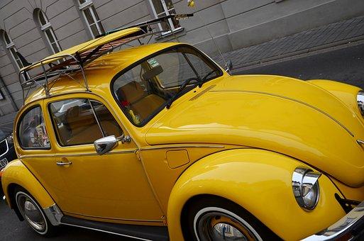 Vw Beetle, Auto, Volkswagen, Classic, Beetle, Vw