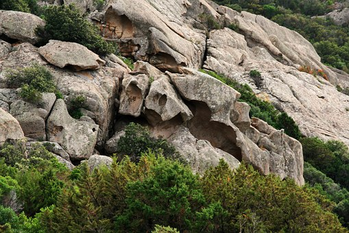 Rock, Corsican, Maquis, Pierre, Landscape, Nature