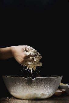 Baking, Bowl, Clear Bowl, Close-up, Cooking, Dough
