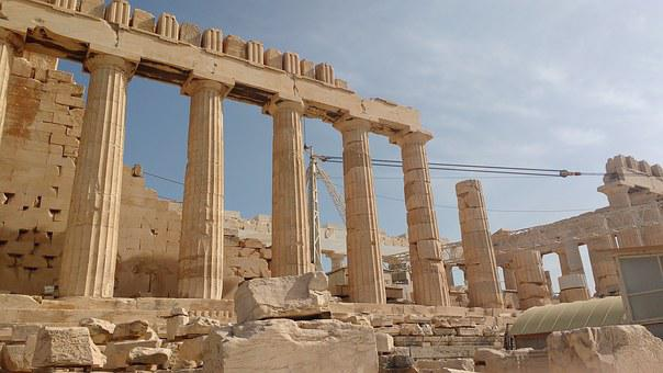 Acropolis, Athens, Ancient, Architecture, Europe