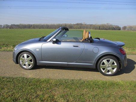 Cabrio, Twoseater, Daihatsu, Car, Field, Outdoor