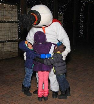 Frosty, Snowman, Winter, Costume, Bundled, Cold, Carrot