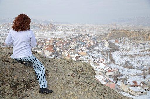 Cappadocia, Women, Girl, Beauty, Brunette, Female, Hair