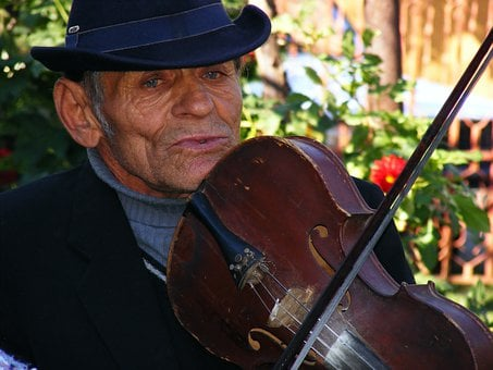 Fiddler, Musician, Man, Male, Music, Play, Playing