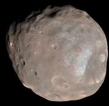 Phobos, Moon, Mars I, Natural Satellite, Planet Mars