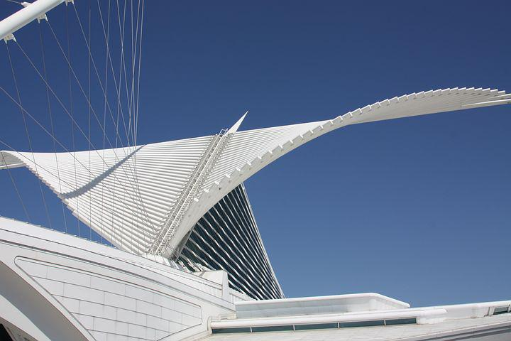 Architecture, Modern, Milwaukee, Art Museum, Roof