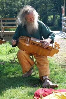 Musician, Fiddler, Old, Man, Midevil, Violin, Music