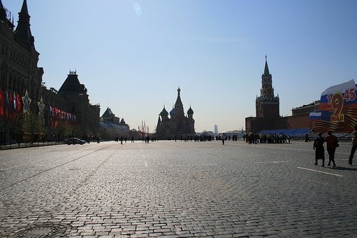Red Square, Paving, Open Blue Sky, Open Space