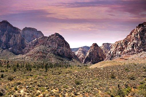 Red Rock Canyon, Canyon, Las Vegas, Desert, Fire, Rock
