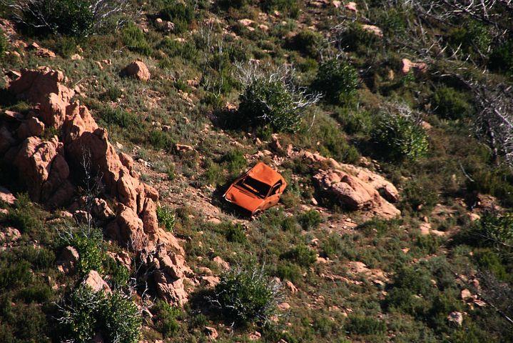 Landscape, Nature, Car, Abandoned, Corsican, Rock