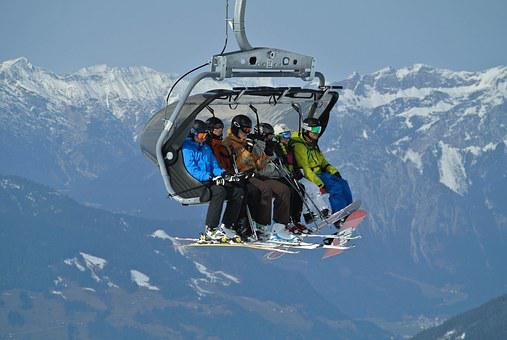 Ski Lift, Skiing, Ski, Skis, Snowman, People, Austria
