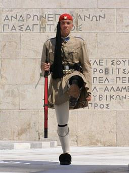 Athens, Greece, Soldier, A Security Guard, Warta