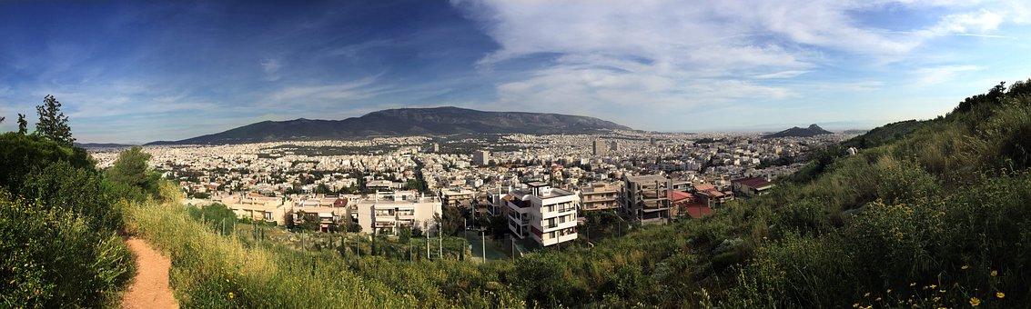 Athens, Attiko Alssos, Greece, Panorama, Spring, City