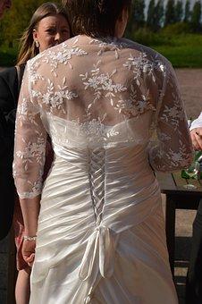 Dress, Behind, Wedding, Aldridge, White, Lace