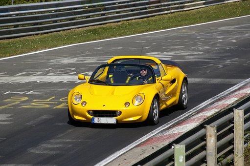 Auto, Nordschleife, Nürburgring, Eifel, Yellow