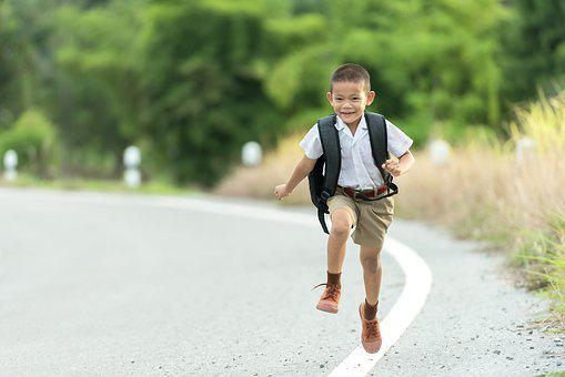 Boy, Outdoor, Human, Backpack, Thailand, Asia