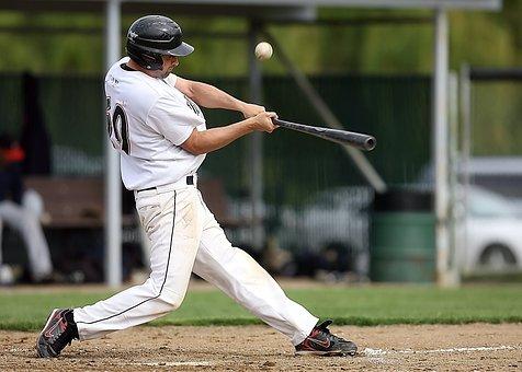Baseball, Player, Batter, Game, Ball, Sport, Field