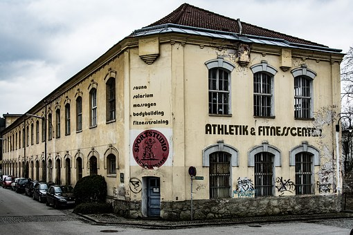 Building, Fitness Center, Go To Waste, Old, Desolat