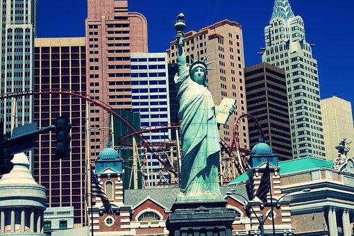 Las Vegas, Statue Of Liberty, City, Building