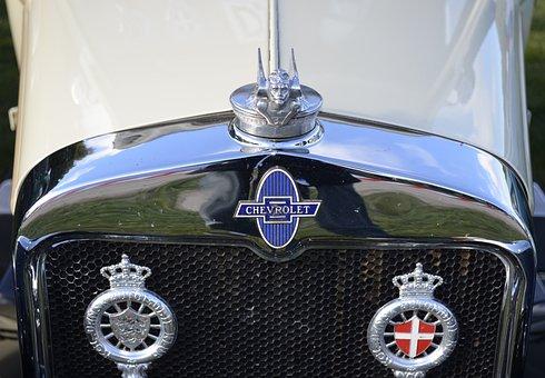 Chevrolet, Veteran, Beautiful, Old, Danish, Denmark