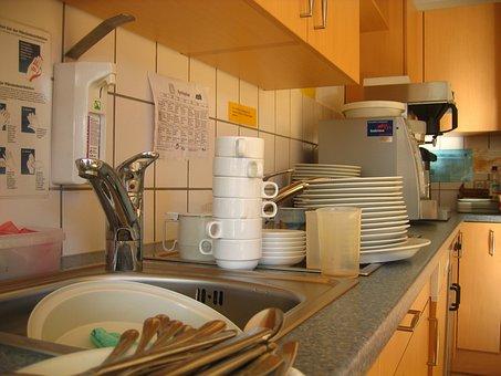 Cook, Sink, Rinse, Tableware, T, Coffee Mugs, Henkel