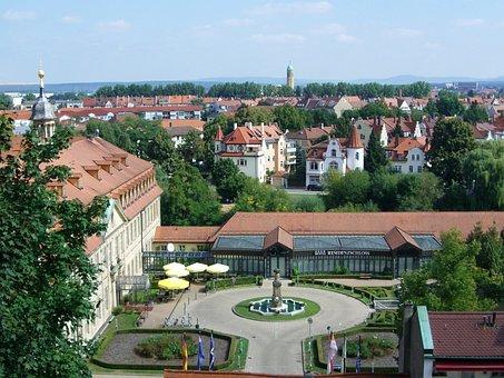 Bamberg, Gastronomy, Residenzschloss, Courtyard