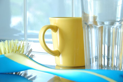 Everyday Life, Washing Dishes, Cup, Glass