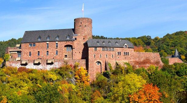 Castle, Middle Ages, Rur, Eifel, Knight, Defend, Art
