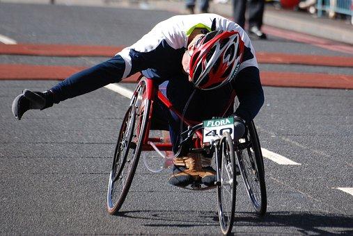 Wheelchair, Disabled, Man, Racer, London Marathon