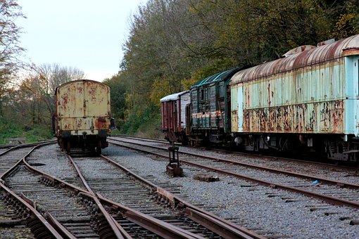 Siding, Discarded, Wagon, Trains, Railway Station