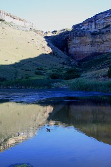 Drakensberg Mountains, Water, Landscape, Scenery