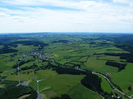 Eifel, Gyrocopterflug, Dahlemer Binz