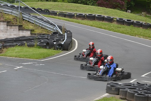 Kart, Race, Karting, Sport, Extreme, Track, Competition