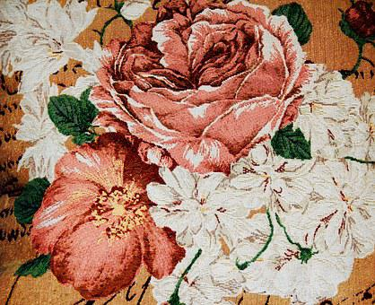 Roses, Cloth, Blanket, Fabric, Tablecloth, Pattern
