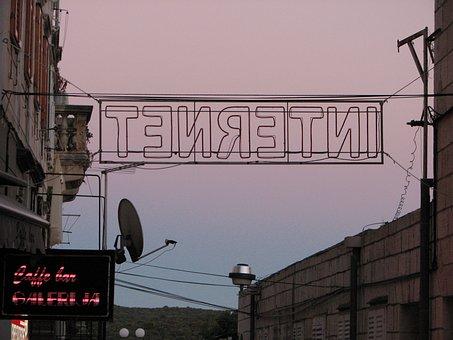 Internet, Ironic, Wire, Croatia, Sunset, Hightech